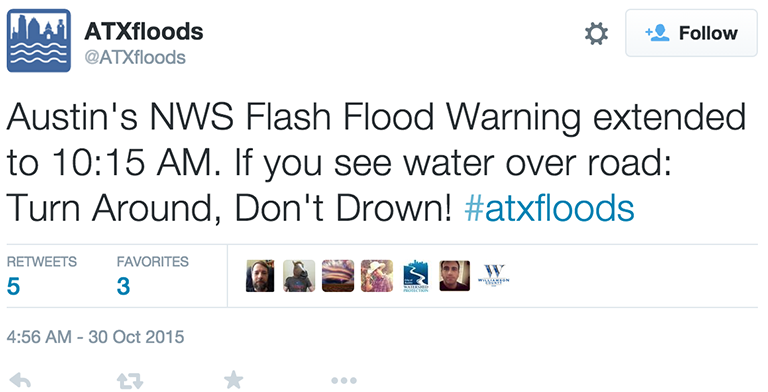 ATX flood warning image