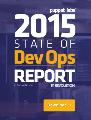 Download the latest State of Devops report by Puppet Labs.