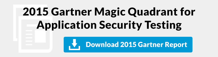 Free download of the 2015 Magic Quadrant for Application Security Static and Dynamic Testing.