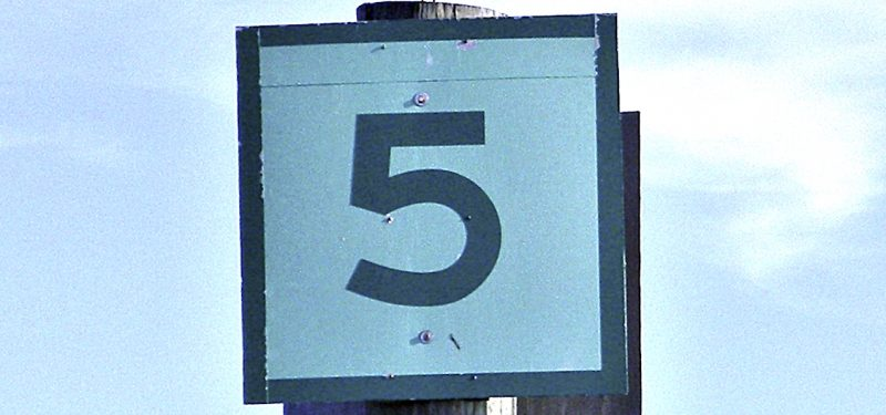 Sign with #5
