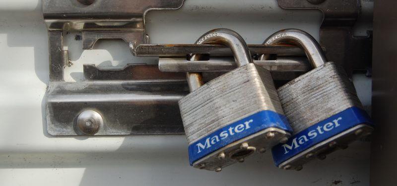 Locks aligned with bolt