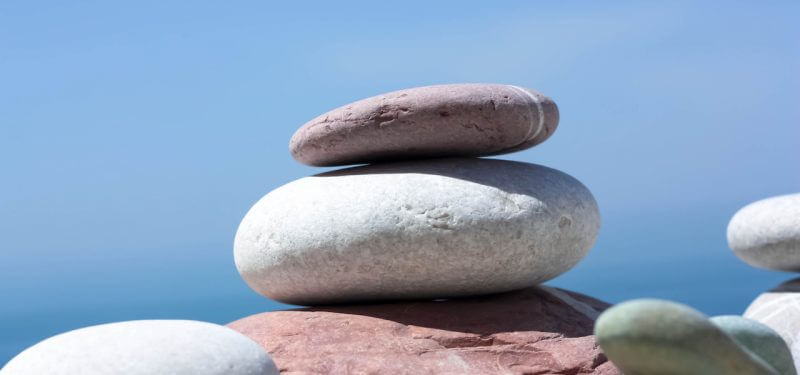 Stones balanced in a stack