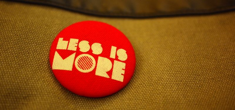 Less is more pin