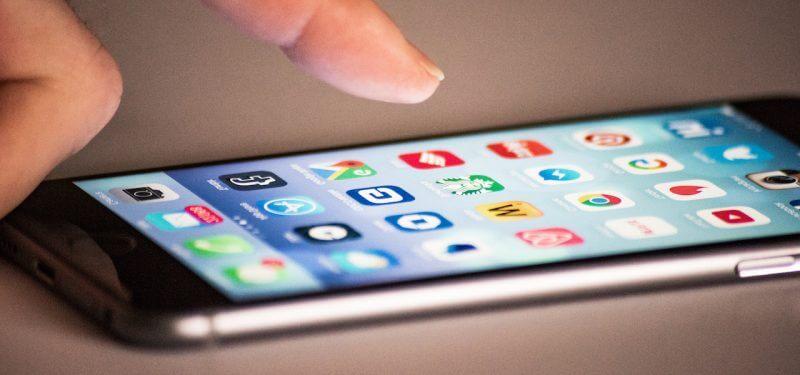 Touching mobile screen
