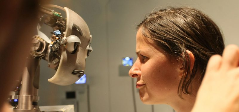 Person and a robot