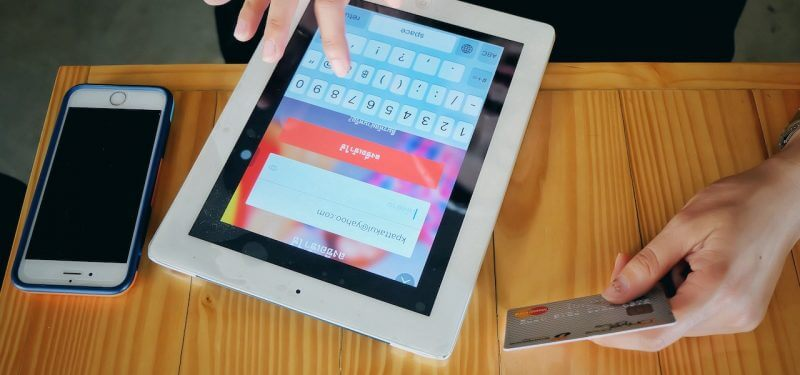 Making a purchase on an iPad