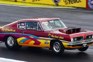 Drag racing muscle car