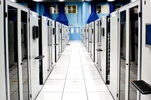 Server hallway at CERN