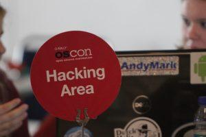 Hacking area at OSCON
