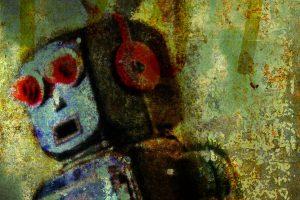 Rusty robot mural