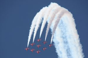 Over the top-flight formation