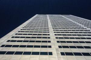 Skyscraper looking up