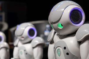 Robots in a row