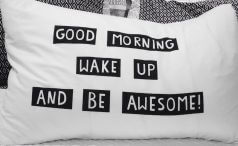 Inspirational throw pillow