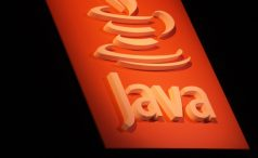 Java logo on a sign