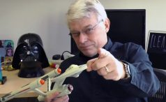 Bob Martin with USS Enterprise spaceship figure