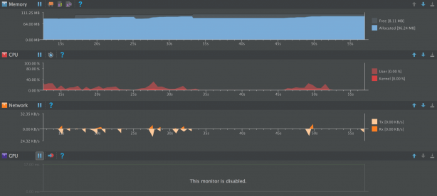 Performance Monitors in Android Studio