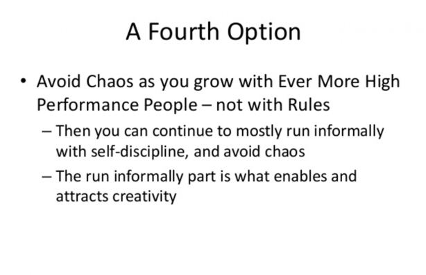 "Slide from ""Netflix Culture: Freedom & Responsibility"""